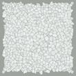Broken tiles white pattern