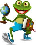 Fototapety frog student