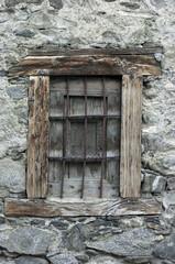 Ventana vieja de madera, rústico, fondo