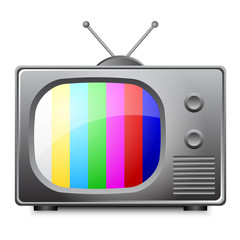 Vector illustration of old television