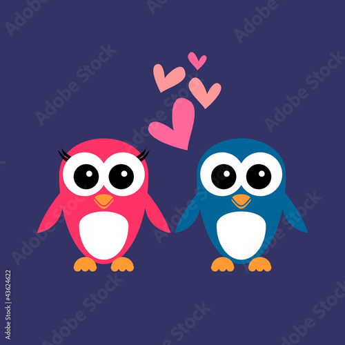 Penguin Couple Drawing Couple Penguin Drawing Cute
