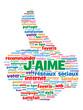 """Nuage de Tags """"J'AIME"""" (recommander partager voter bouton like)"""