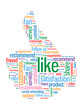"""LIKE"" Tag Cloud (thumbs up recommend vote comment share button)"