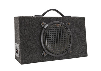 Old Car Audio Boom Box Woofer Isolated