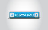 Blue download button