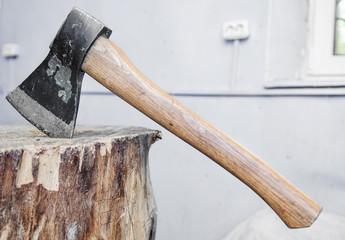 ax into a tree