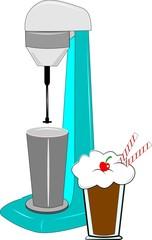milkshake machine clipart with milkshake