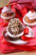 schoko- und erdbeercupcakes