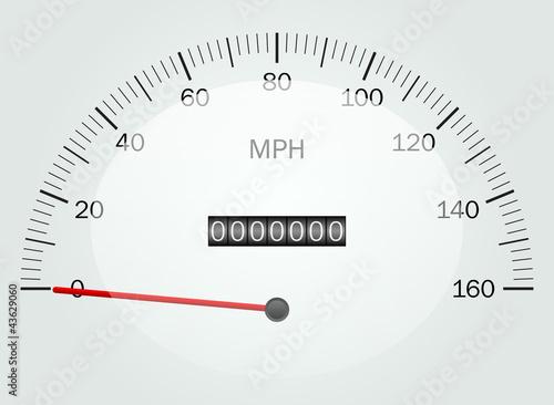 Vector illustration of a speedometer