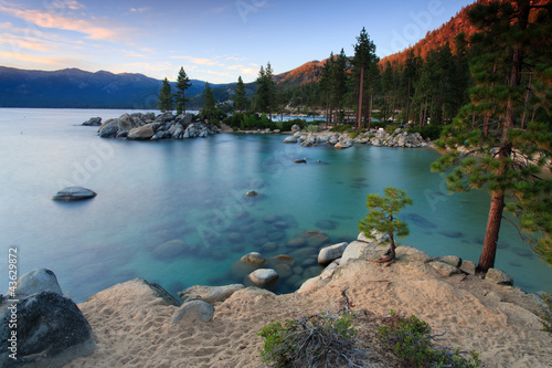 Canvas Grote meren dawn over Sand Harbor, Lake Tahoe