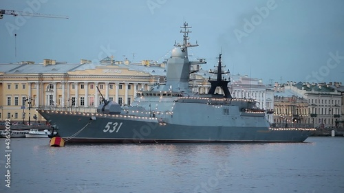 "Russian Navy Corvette ""Soobrazitelny"" at anchor"