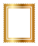 Vector - illustration of isolated gold stamp