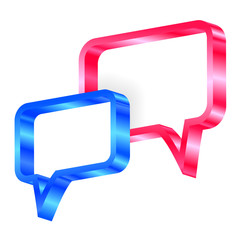 Vector illustration of speech bubbles
