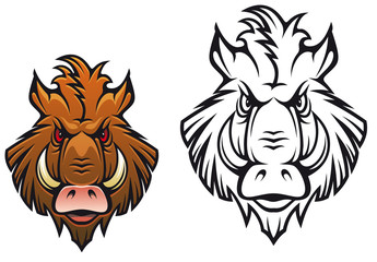 Angry boar mascot