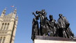 The Burghers of Calais statue by UK parliament.