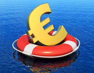 Financial crisis in Europe concept