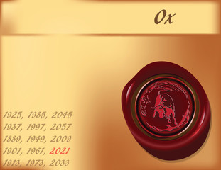 Year of the Ox - background