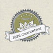 Vintage label organic products, vector, EPS8