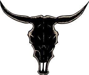 Outline bull skull