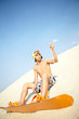 Sandboard rider