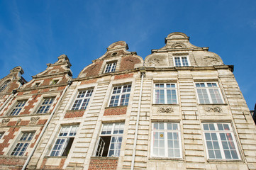 Facades buildings in French Arras