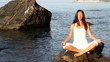 meditation, sea, girl