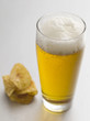 Lager and potato chip