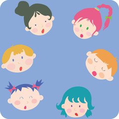 kids faces card