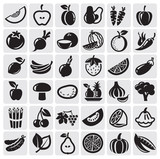 Fototapety Fruit and Vegetables set