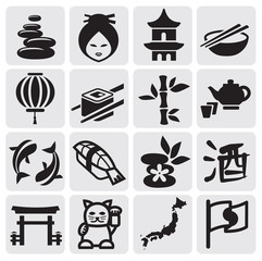Japanese icon set