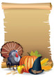 Retro background Thanksgiving turkey