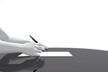 Escribiendo en la oficina