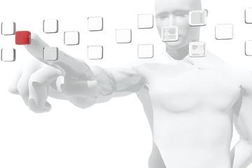 Figura humana seleccionando información