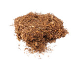 Tobacco for Rolling Cigarettes Isolated on White Background