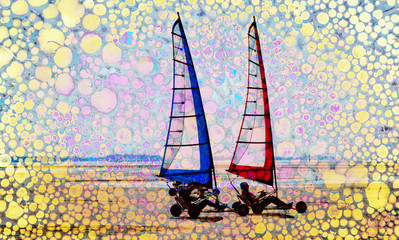 Abstract summer sailing