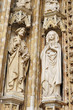 Medieval statues on catholic church Petit Sablon