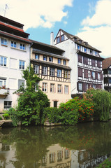 "historical buildings in  ""Petite France"" in Strasbourg"
