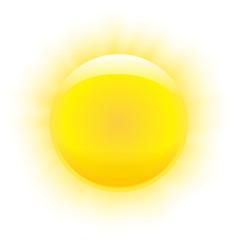Photorealistic sun, transparent rays