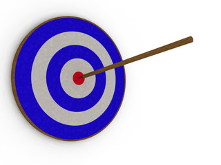 Arrow in the center of the target