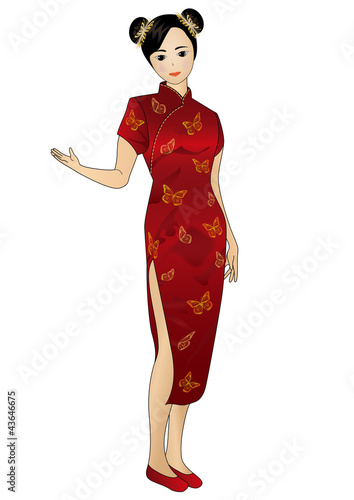 Chinese Dress on Chinese Dress By Tokujiro  Royalty Free Vectors  43646675 On Fotolia