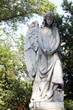 Ancient angel on Warsaw cemetery