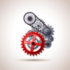gears red