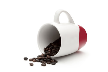 Mug and coffee beans