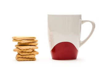 Mug and biscuits
