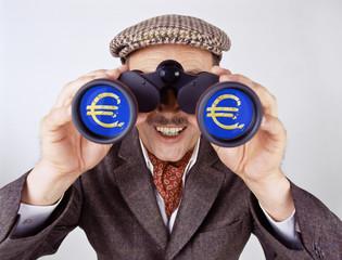 Spekulant beobachtet Euro