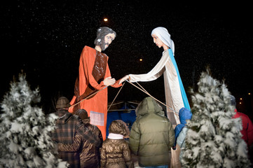 Nativity plays on celebration of Christmas in Poland