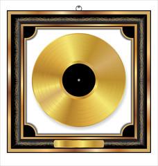 Gold Vinyl Disc award