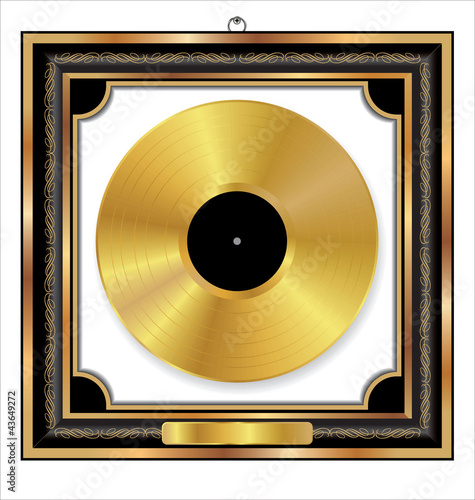 Gold Vinyl Disc award