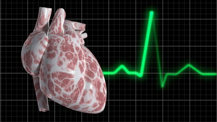 Heart and ECG Trace