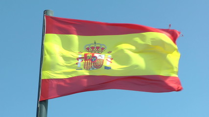 Flag of Spain in Slow Motion